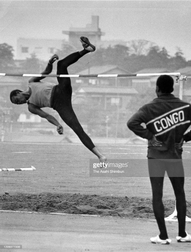 Henri Elende Of Congo Training : ニュース写真