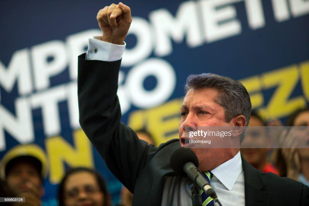 Venezuelan Opposition Presidential Candidate Henri Falcon Holds Press Briefing