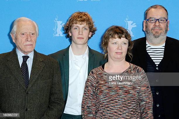 Henri Garcin Martijn Lakemeier Nanouk Leopold and Wim Opbrouck attend the 'It's All So Quiet' Photocall during the 63rd Berlinale International Film...