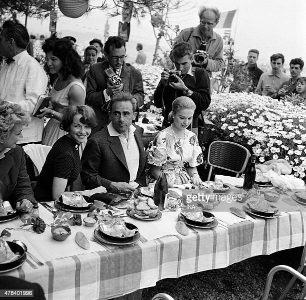 Henri Georges Clouzot during a banquet given to the restaurant The sentry box on the island saint Marguerite during the Cannes film festival