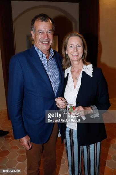 Henri Giscard d'Estaing and his wife Ina attend the Kering Heritage Days Opening Night at 40 Rue de Sevres on September 14 2018 in Paris France