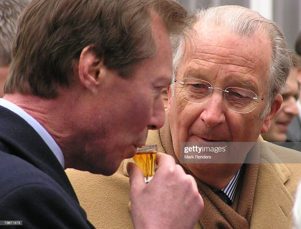 Henri, Grand Duke of Luxembourg and King Albert II of Belgium attends a folklore show at the Provincial House on March 22, 2007 in Namur, Belgium. Henri, Grand Duke of Luxembourg and his wife Maria Teresa, Grand Duchess of Luxembourg are in Belgium for a three day during State Visit.