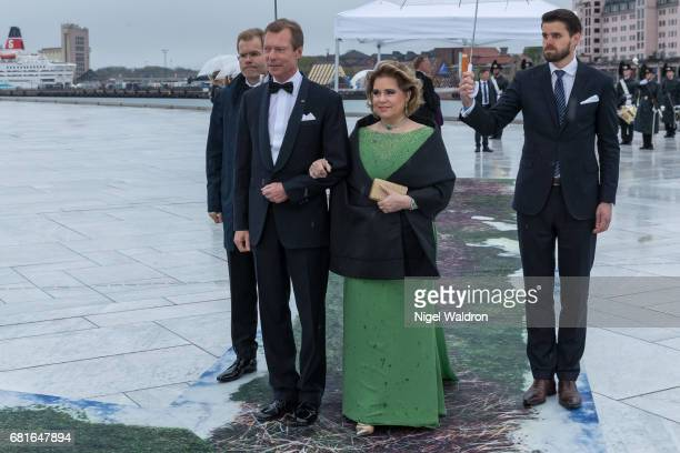 Henri Grand Duke of Luxembourg and Maria Teresa Grand Duchess of Luxembourg arrives at the Opera House on the occasion of the celebration of King...