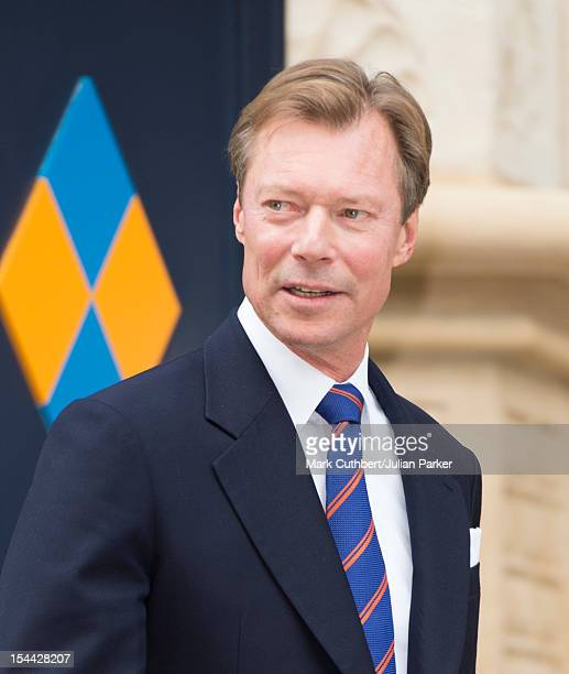Henri Grand Duke of Luxembourg arrives back at the Royal Palace after the civil wedding ceremony of Prince Guillaume Of Luxembourg and Countess...
