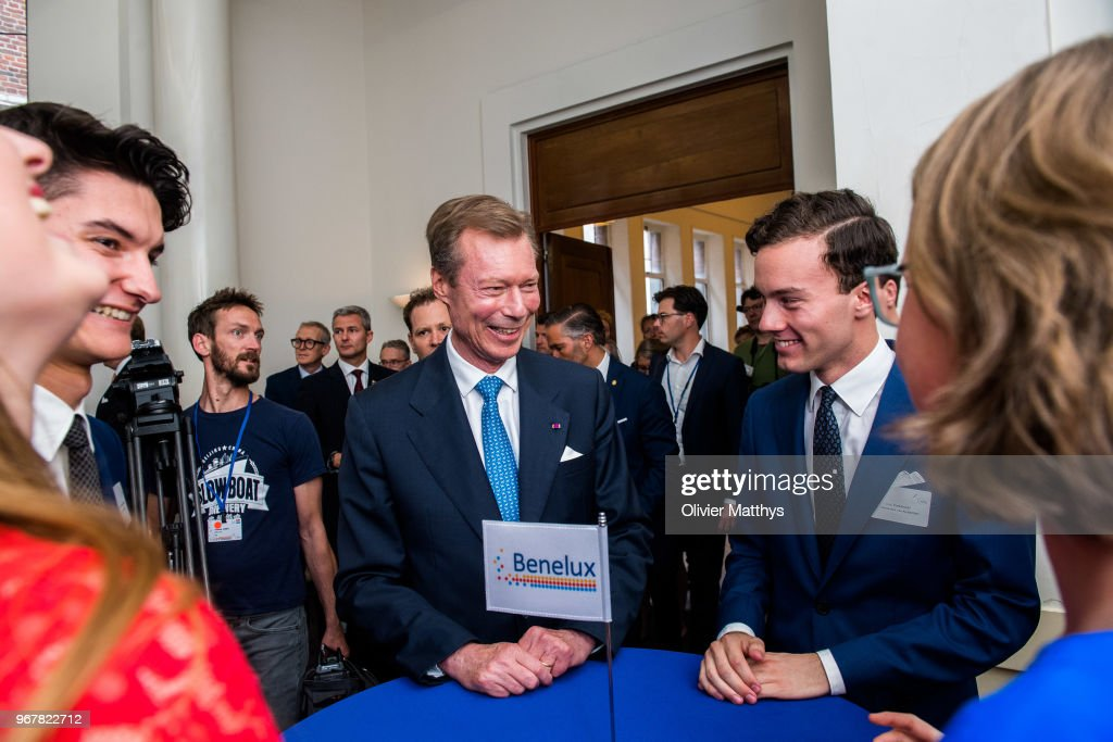 Henri Grand Duke of Luxembourg (C) attends the 60 years Benelux Council celebration on June 5, 2018 in Brussels, Belgium.