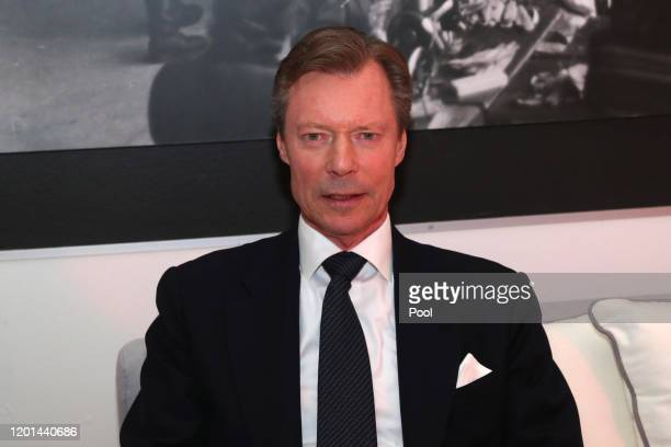 Henri Grand Duke of Luxembourg during the Fifth World Economic Forum on January 23 2020 in Jerusalem Israel Heads of State gathering in Jerusalem to...