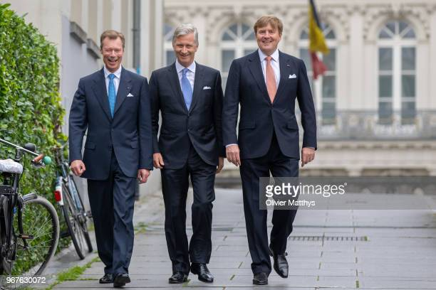 Henri Grand Duke of Luxembourg King Philip of Belgium and King WillemAlexander of the Netherlands attend the 60 years Benelux Council celebration on...