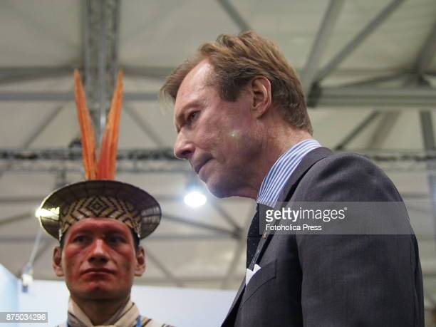 Henri Grand Duke of Luxembourg speaking with indigenous people from Peru at the United Nations Framework Convention on Climate Change UNFCCC COP23