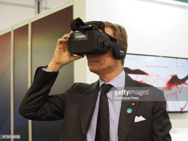 Henri Grand Duke of Luxembourg using a virtual reality device at the United Nations Framework Convention on Climate Change UNFCCC COP23