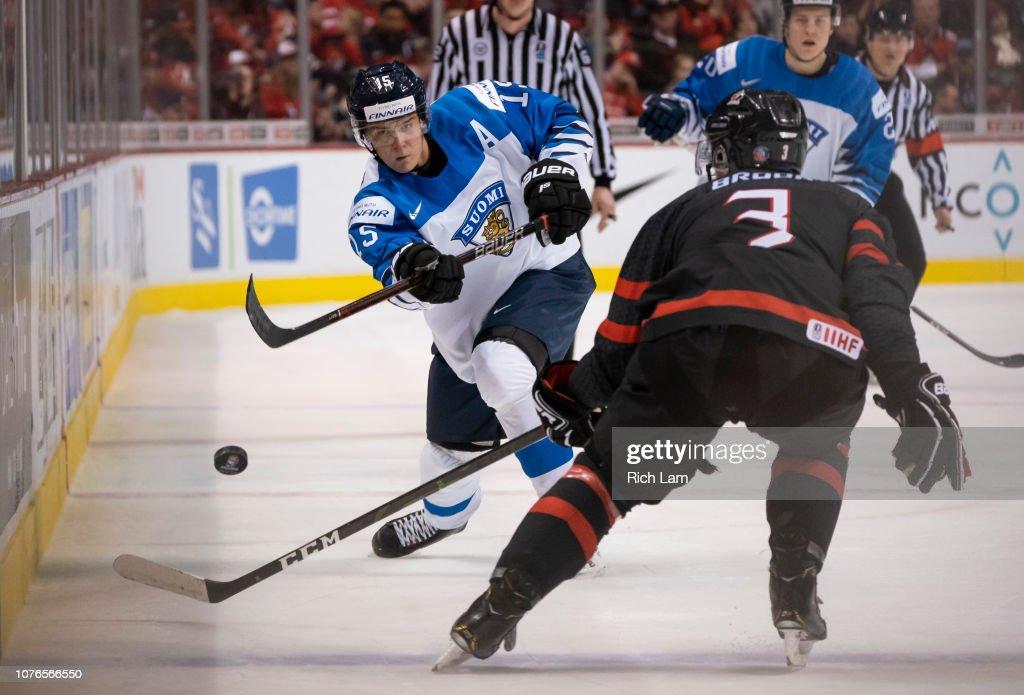 Canada v Finland: Quarterfinal - 2019 IIHF World Junior Championship : News Photo