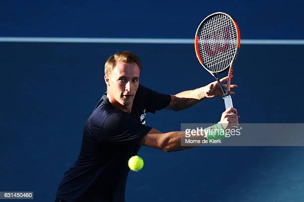 Henri Kontinen of Finland competes during the 2017 World Tennis Challenge at Memorial Drive on January 11 2017 in Adelaide Australia