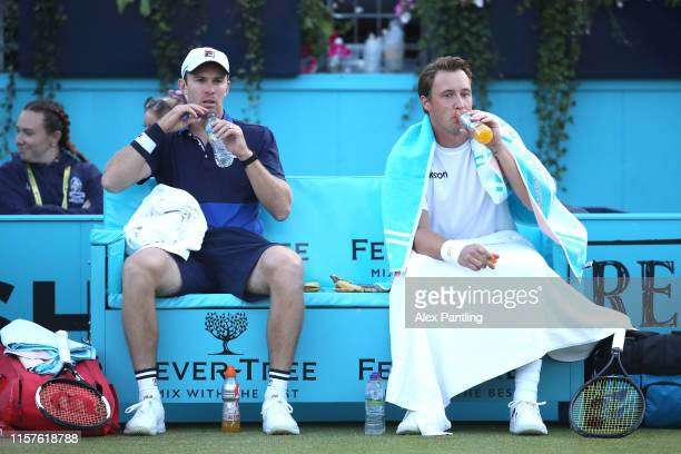 Henri Kontinen of Finland John Peers of Australia during the mens doubles semi-final match against Andy Murray of Great Britain and partner Feliciano...