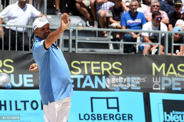 Henri Lacroix competes during the Masters of Petanque 2017 on July 13 2017 in RomanssurIsere France