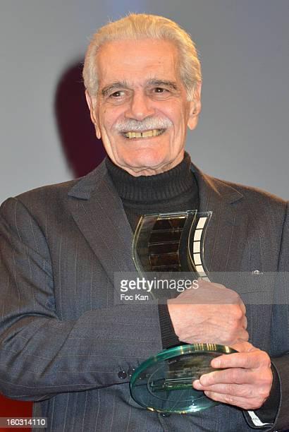 Henri Langlois 2013 Honour awardee actor Omar Sharif attends the 'Henri Langlois' Cinema Awards 2013 at Mairie de Vincennes on January 28, 2013 in...