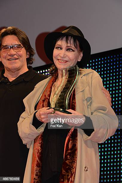 Henri Langlois 2014 awarded actress Anna Karina and director Jean Francois Davy attend the 'Henri Langlois Award' 2014 Closing Ceremony At Hotel De...