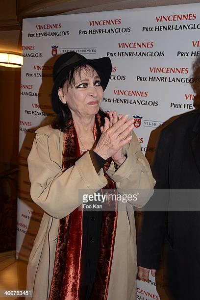 Henri Langlois 2014 awarded actress Anna Karina attends the 'Henri Langlois Award' 2014 Closing Ceremony At Hotel De Ville De Vincennes on February 3...