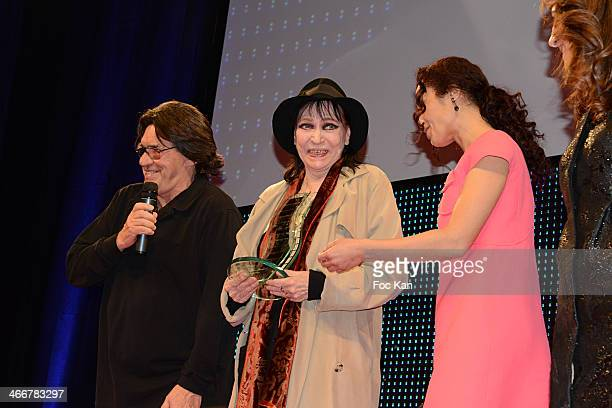 Henri Langlois 2014 awarded actress Anna Karina director Jean Francois Davy and Aida Touihri attend the 'Henri Langlois Award' 2014 Closing Ceremony...
