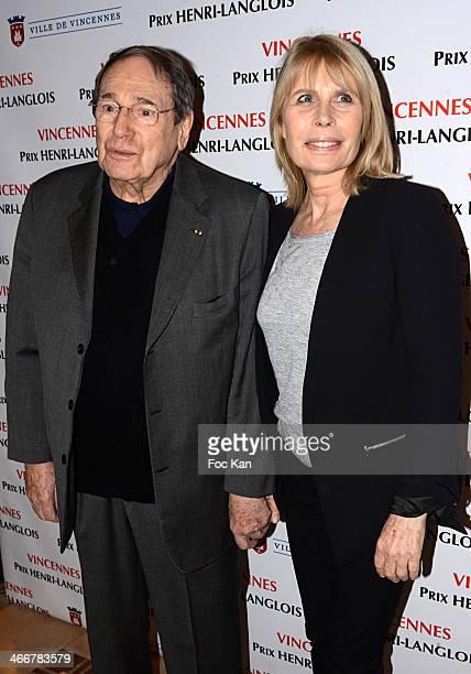 Henri Langlois 2014 awarded director Robert Hossein and Candice Patou attend the 'Henri Langlois Award' 2014 Closing Ceremony At Hotel De Ville De...