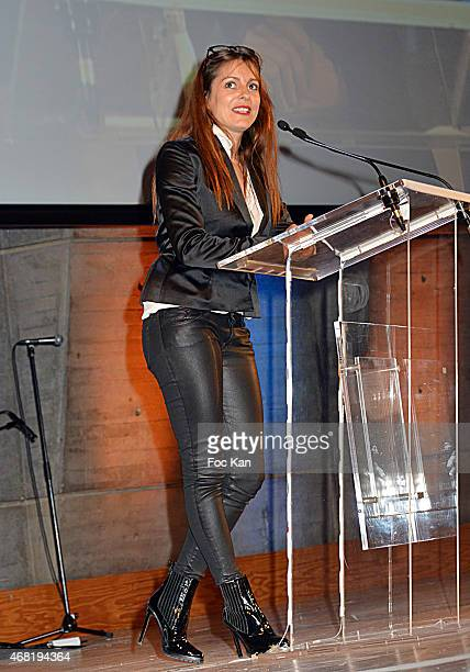 Henri Langlois 2015 awarded actress/director Audrey Dana attend the 'Henri Langlois' 10th Award Ceremony At Unesco In Paris on March 30 2015 in Paris...