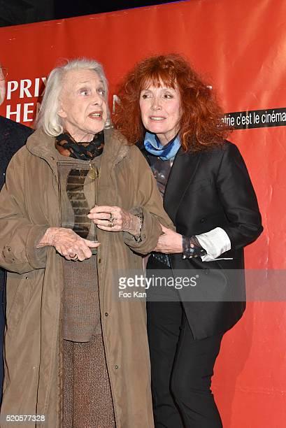 Henri Langlois 2016 awarded Micheline Presle and Sabine Azema attend Henri Langlois : 11th Award Ceremony At Maison de La Radio on April 11, 2015 in...