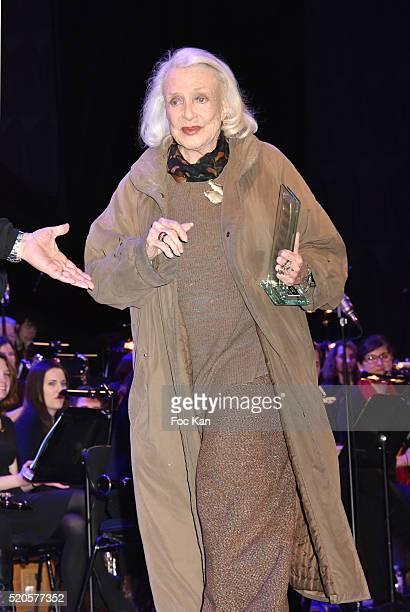 Henri Langlois 2016 awarded Micheline Presle attends Henri Langlois : 11th Award Ceremony At Maison de La Radio on April 11, 2015 in Paris; France.