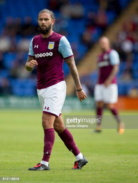 Henri Lansbury of Aston Villa during the PreSeason Friendly match between Shrewsbury Town and Aston Villa at the Greenhous Meadow on July 15 2017 in...
