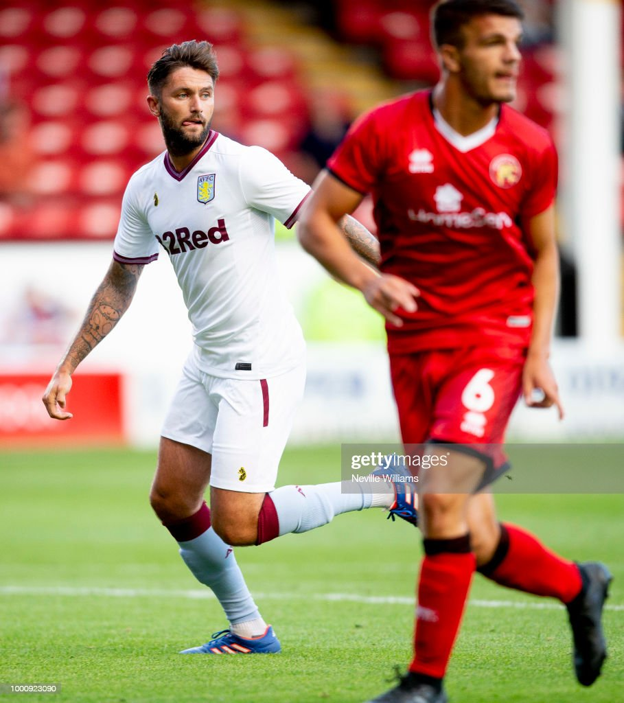 Henri Lansbury of Aston Villa in action during the Pre-Season Friendly match between Walsall and Aston Villa at the Bescot Stadium on July 17, 2018 in Walsall, England.