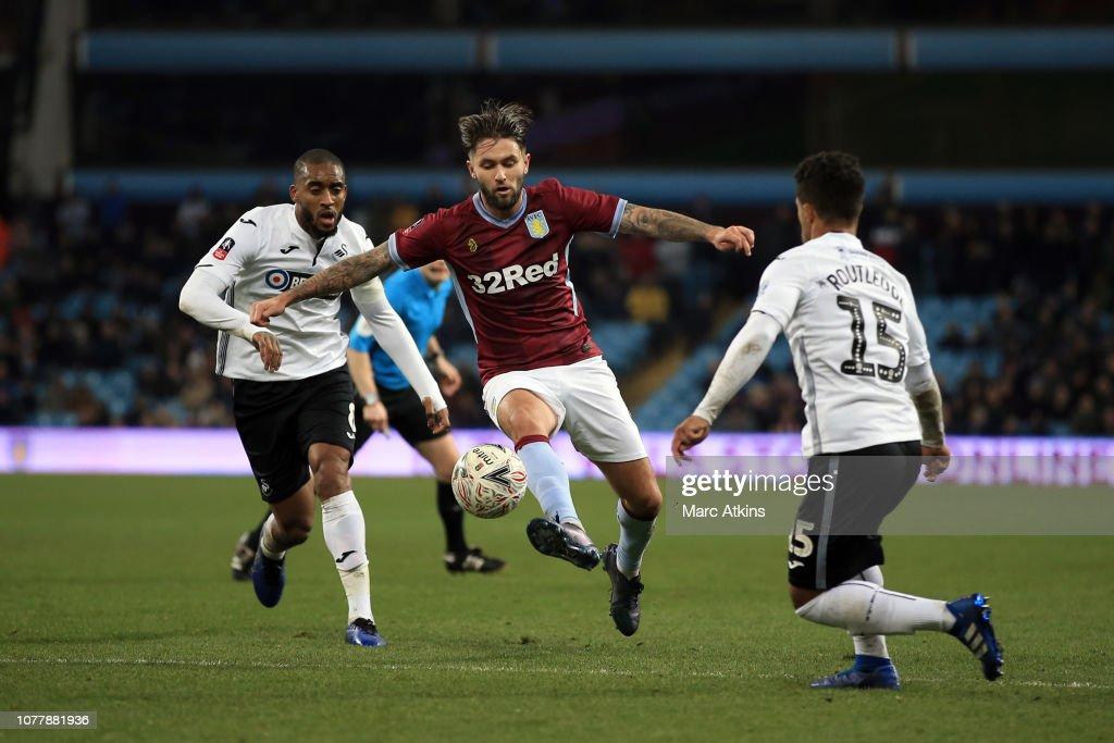 Aston Villa v Swansea City - FA Cup Third Round : News Photo