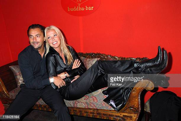 Henri Leconte and Florentine during Buddha Bar 10th Anniversary Diner Party at Buddha Bar in Paris France