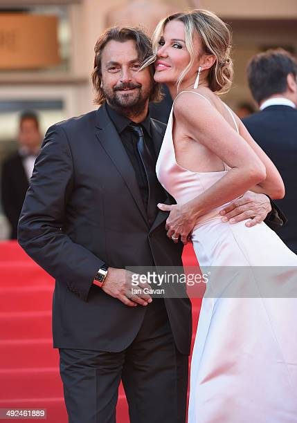 Henri Leconte and Florentine Leconte attend the Two Days One Night premiere during the 67th Annual Cannes Film Festival on May 20 2014 in Cannes...