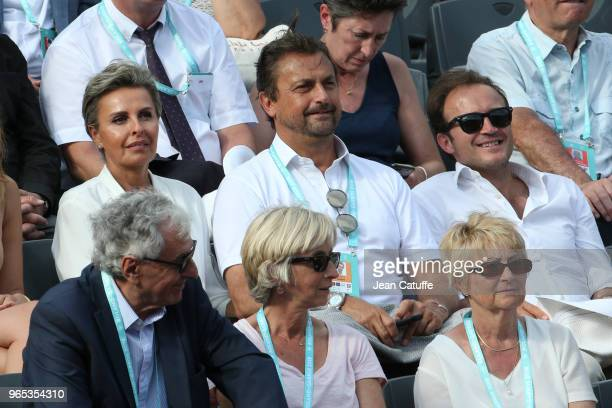 Henri Leconte and girlfriend Maria Dowlatshahi during Day Five of the 2018 French Open at Roland Garros on May 31 2018 in Paris France