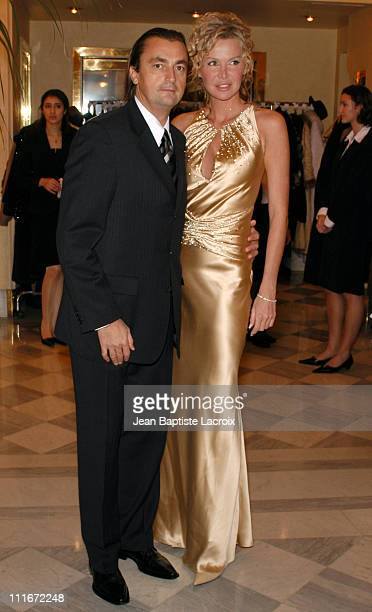 Henri Leconte and his wife during Gala Dinner for 'The Best' Award Arrivals at The Royal Monceau Hotel in Paris France