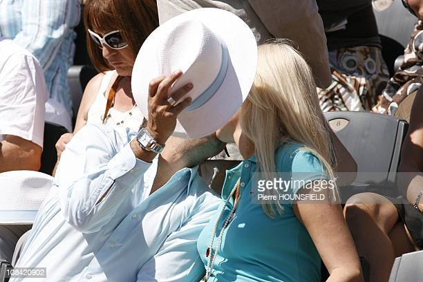 Henri Leconte and his wife Florentine in Paris France on May 30 2009