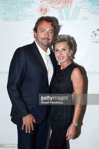 Henri Leconte and Maria Dowlatshahi attend the Legends Of Tennis Dinner as part of 2019 French Tennis Open at on June 05 2019 in Paris France