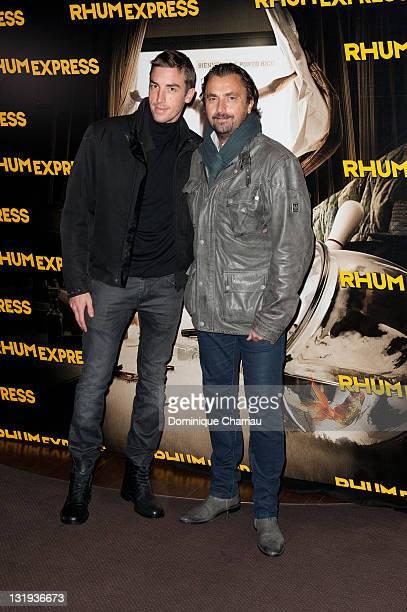 Henri Leconte and Maxime Leconte attend the 'Rhum Express' Paris Premiere at Cinema Gaumont Marignan on November 8, 2011 in Paris, France.