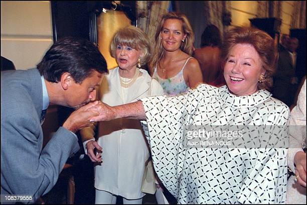 Henri Leconte and Nadine de Rothschild in Paris France on June 11 2001