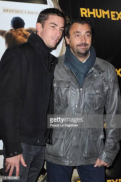 Henri Leconte and son Maxime attend the 'Rhum Express' Paris Premiere at Cinema Gaumont Marignan on November 8 2011 in Paris France