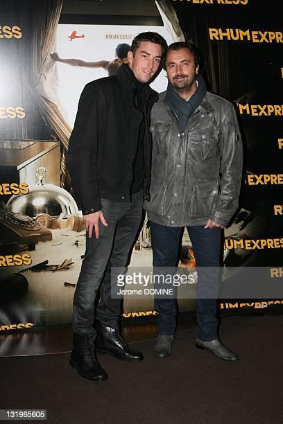 Henri Leconte and son Maxime attend the 'Rhum Express' Paris Premiere at Cinema Gaumont Marignan on November 8, 2011 in Paris, France.