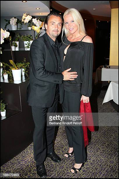Henri Leconte and wife Florentine at Diner Des Champions Celebrating 80 Years Of The Roland Garros At Restaurant Diane At Fouquet's Hotel In Paris