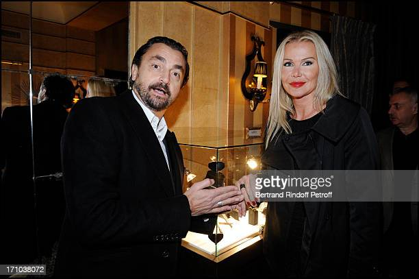 Henri Leconte and wife Florentine at The Maitre Du Temps Evening Hosted By Jeweller Edouard Nahum And Exhibiting Paintings By Sylvie Breysse At...