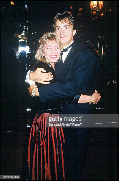 Henri Leconte at his 34th birthday party with his wife Brigitte in 1987