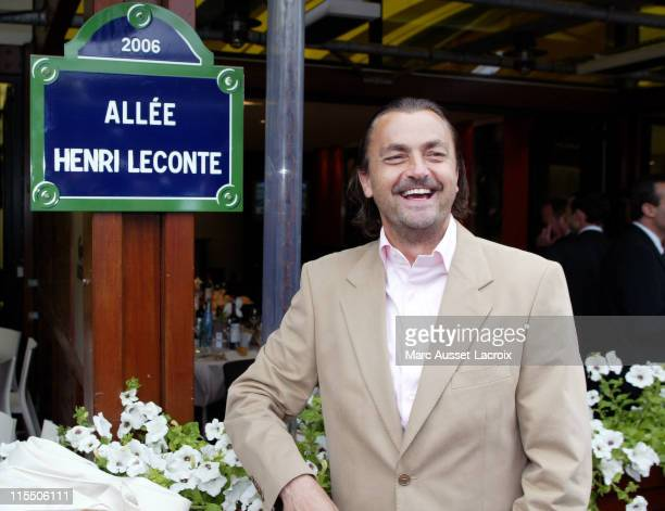 Henri Leconte during 2006 French Open Celebrity Sightings June 1 2006 at Roland Garros in Paris France