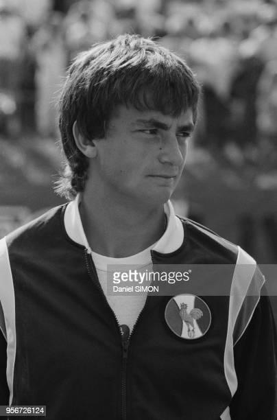 Henri Leconte lors de la Coupe Davis à AixenProvence le 3 octobre 1982 France