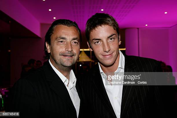 """Henri Leconte with his son Maxime at the opening party of the new """"Novotel Paris Est""""."""