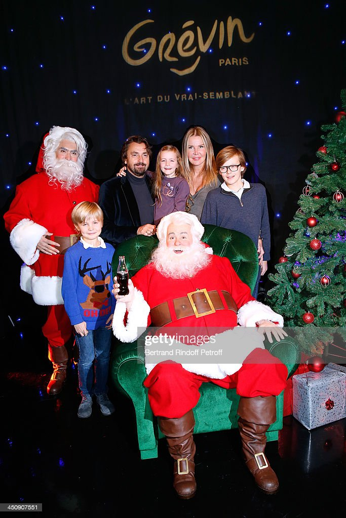 Coca Cola Christmas Father Waxwork Unveiling Event At Musee Grevin