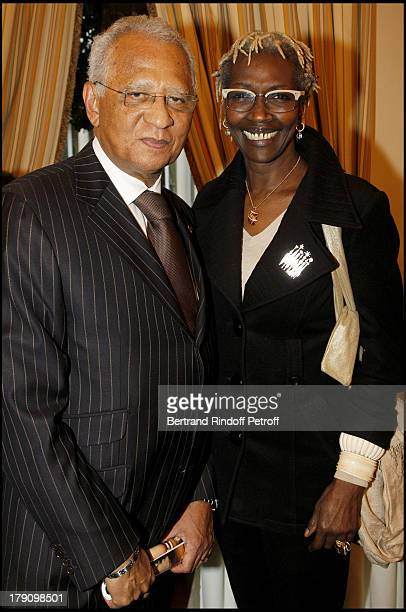 Henri Lopes and Princesse Esther Kamatari at The Galette Des Rois Charity Function At Bristol In Paris Organised By Cira To Benefit Children Of Haiti