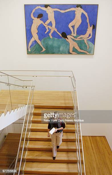 Henri Matisse's 'Dance' hangs over a staircase at the newly renovated Museum of Modern Art which reopens at its old E 53rd St location this Saturday...