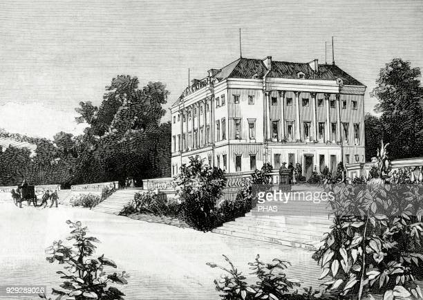 Henri of Artois Count of Chambord Disputedly King of France from 2 to 9 August 1830 as Henry V His residence in Frohsdorf Lower Austria Engraving by...