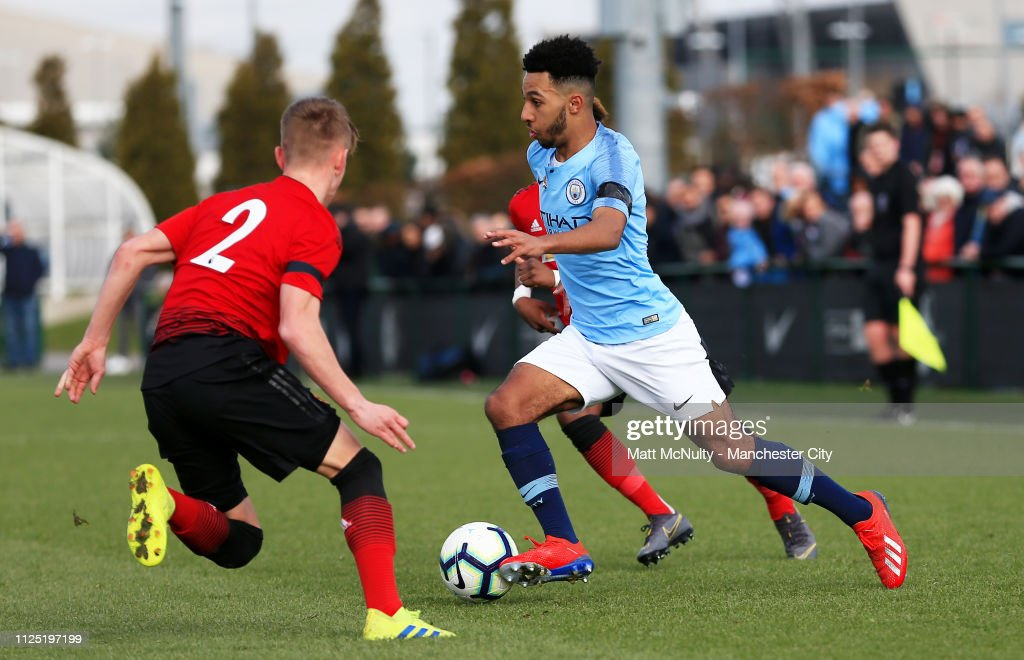Manchester City v Manchester United - U18 Premier League Cup Semi Final : News Photo