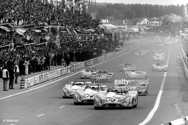 Henri Pescarolo François Cevert JeanPierre Beltoise MatraSimca MS670 24 Hours of Le Mans Le Mans 11 June 1972 Henri Pescarolo François Cevert...